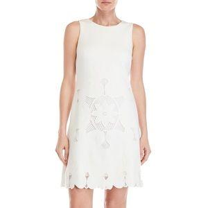 New Catherine Malandrino ivory sleeveless dress